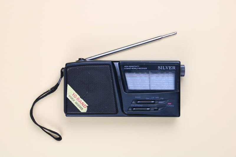 Picture of a radio. Hide a radio so kids have to find it while listening with their ears, preschool devotion