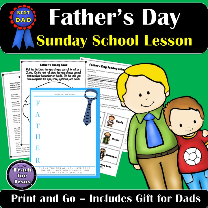 This Father's Day Lesson teaches kids that God is our perfect Father in Heaven. He made us and He loves us perfectly.
