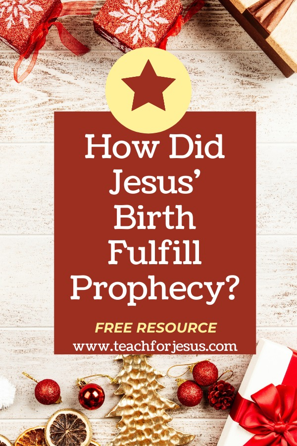 How does Jesus' Birth fulfill prophecy? Kids look up Old Testament prophecies about the Messiah. Then the students look up New Testament verses to see how that prophecy is fulfilled.