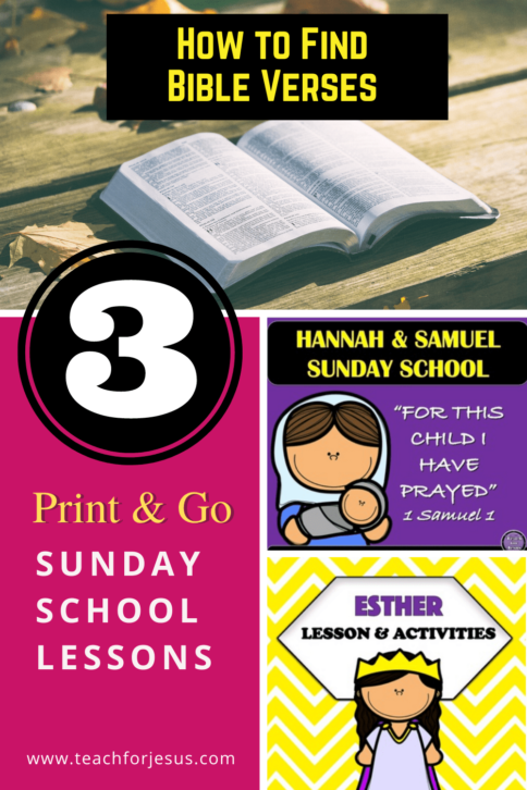 Print and go Sunday school Lessons