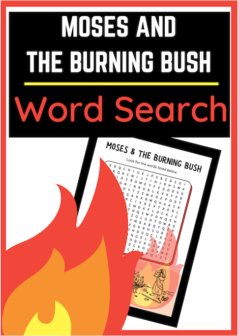 Moses and the Burning Bush Word Search