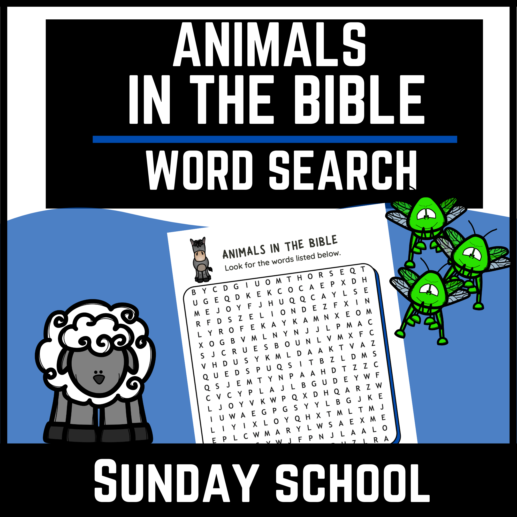 Animals of the Bible Word Search