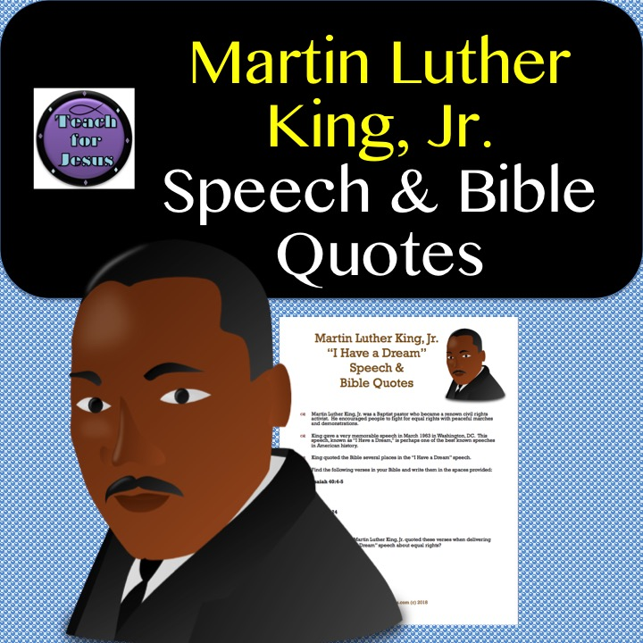 Martin Luther King, Jr. Speech and Bible Quotes