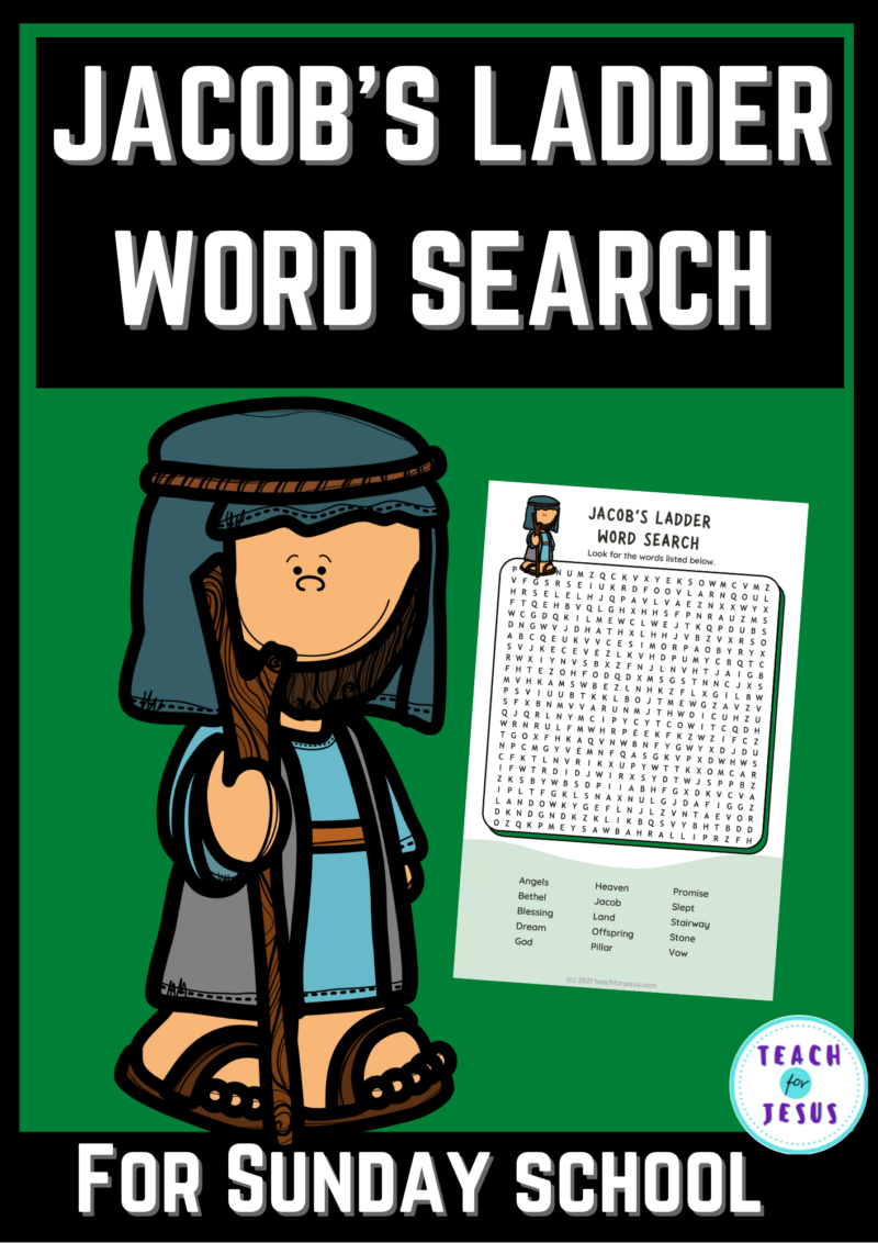 Sunday School: Jacob's Ladder Word Search
