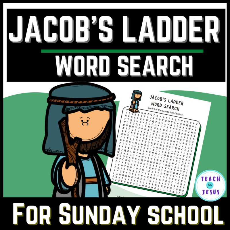 Jacob's Ladder Word Search for Sunday school